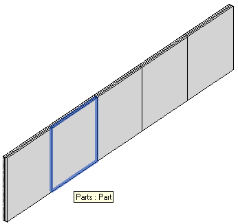 Wall divided into parts