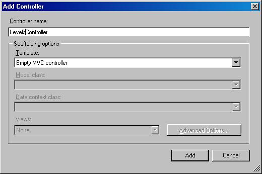 Adding a LevelsController