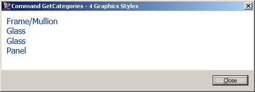 Solid graphics style categories