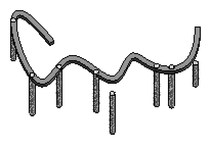 A spline beam supported by multiple columns