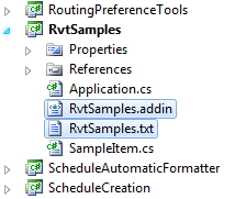 Add manifest and sample list to RvtSamples project