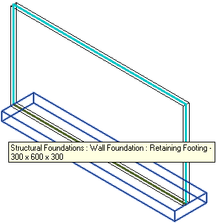 Structural wall and footing