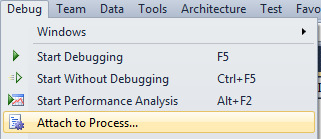 Attach to Revit.exe process