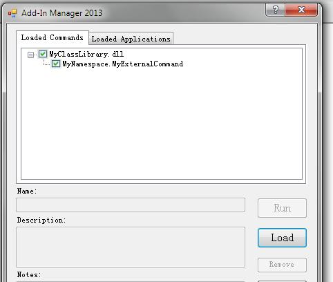 Load the add-in DLL