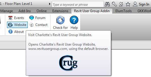 URL ribbon button