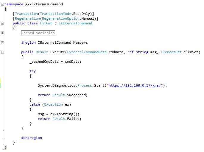 External command opening a URL