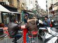 Street scene at pizzeria Costa in Napoli