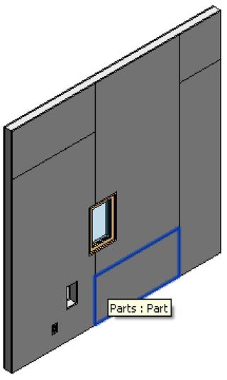Sample wall parts