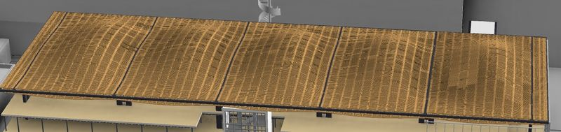 Roof with sweeps