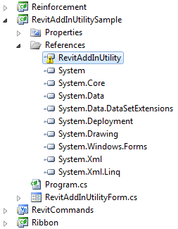 RevitAddInUtilitySample API reference