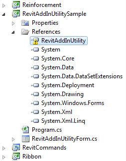RevitAddInUtilitySample API reference