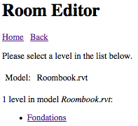 Room editor list of levels