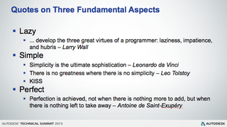 Quotes on three fundamental aspects of software engineering and life