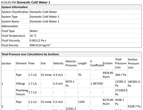the building coder user mep calculation sample