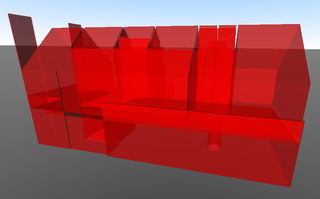 Overlapping room volumes