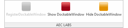 Show dockable panel command in project document