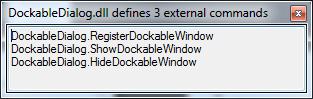 External command lister