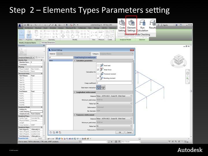 Step 2 – element type parameter settings