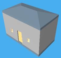 Little house in WebGL