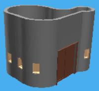 Curved wall model in WebGL