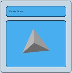 WebGL viewer showing tetrahedron
