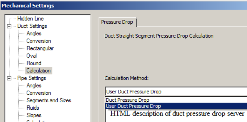 User duct pressure drop