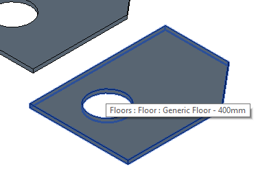 Floor with openings
