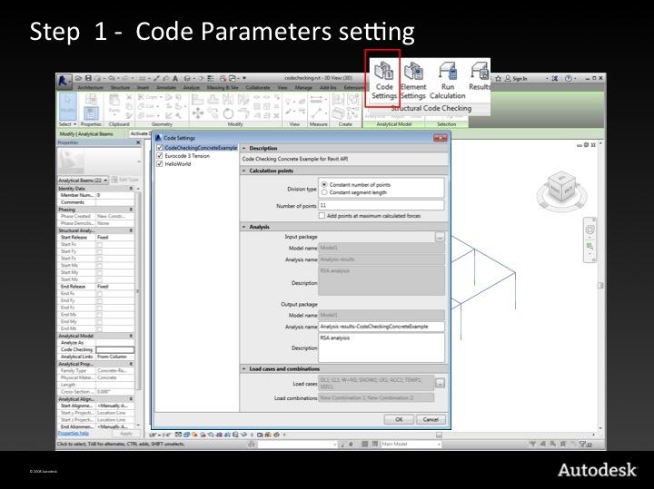 Step 1 – code parameter settings
