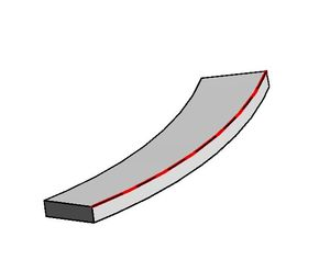 Beam edge curve converted to model curve