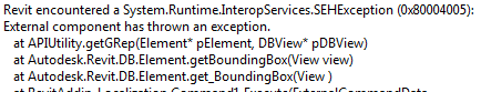 Bounding box exception
