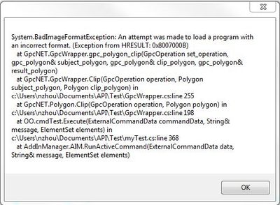 GpcNET exception