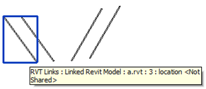 Sample model containing four link instances or two linked files