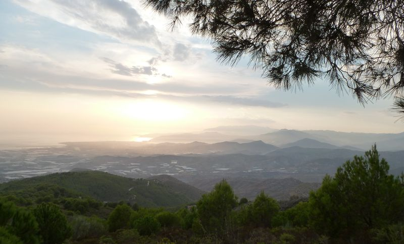 Sunset over Andalusian hills