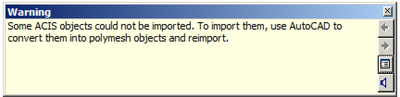 SAT file import warning