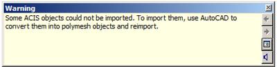 SAT file import warning