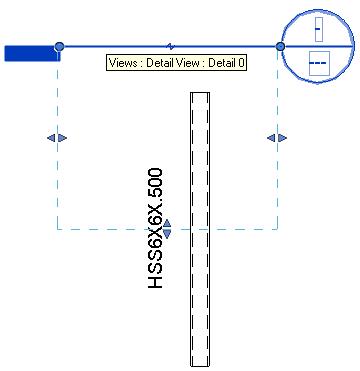 HSS hollow beam section view