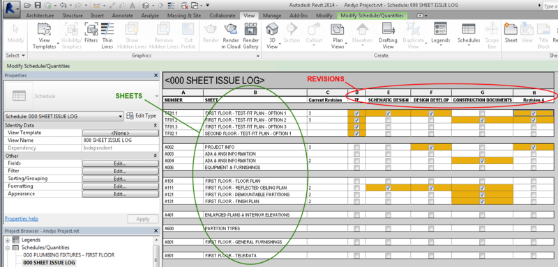 Annotated sheet log