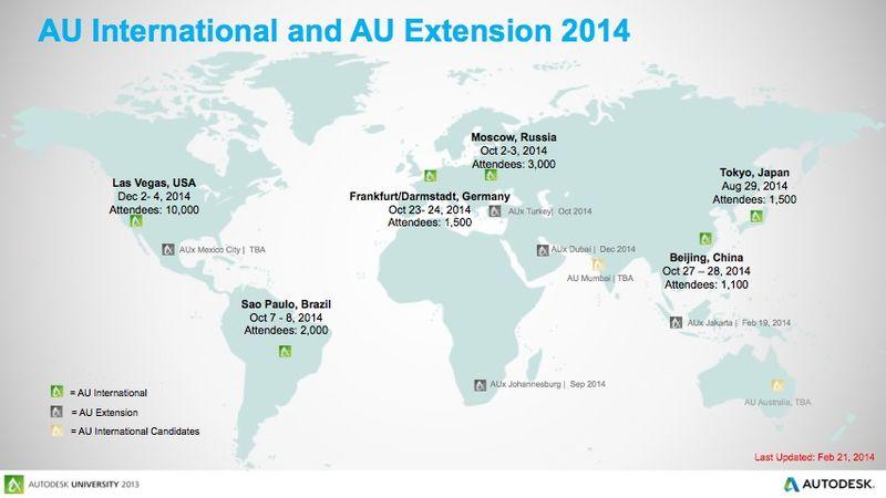 AU 2014 locations