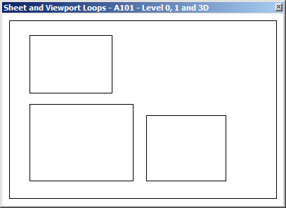 GeoSnoop displaying the sheet and vieport outlines