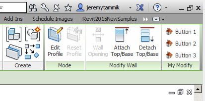 ModifyTabButton panel displayed in the Revit Modify ribbon tab