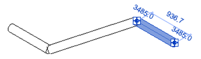 Original pipe connected with rolling offset