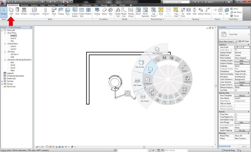 Revit user interface