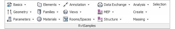 RvtSamples in Revit 2015