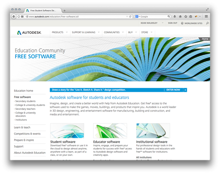 Free educational Autodesk software