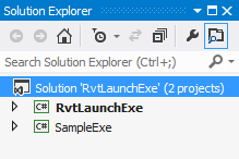 RvtLaunchExe solution