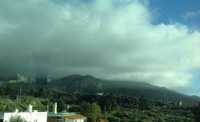 Storm and clouds over the Cumbre Vieja