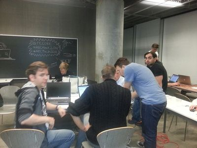 Matt Mason and Jeremy at the AEC Hackathon