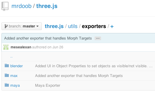 Three.js exporters
