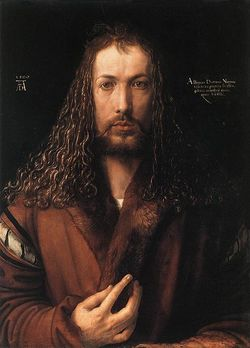 Albrecht Dürer self-portrait at 28, a.d. 1500