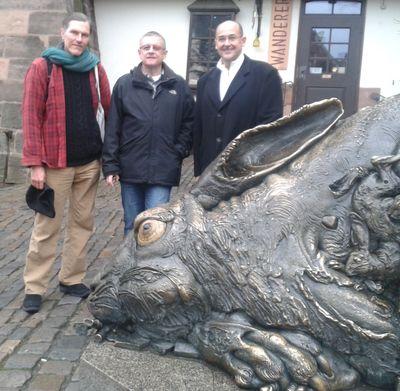 Jim Quanci, Thomas Fink, the rabbit and me